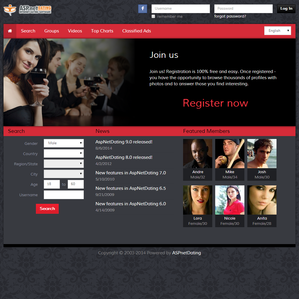 Adult online dating service