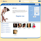 Dating Software Blue Theme Demo Site