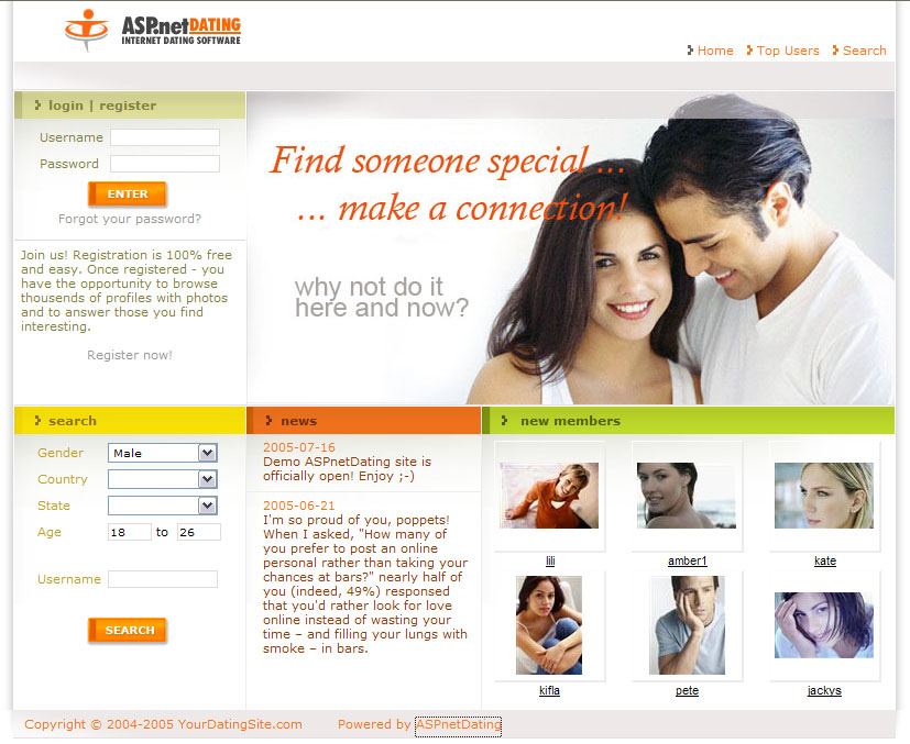 Freeware dating software